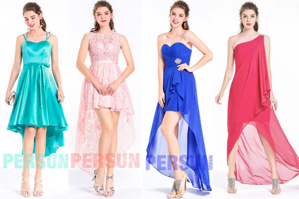 Nouvelle collection de robe cocktail courte devant longue derrière persun
