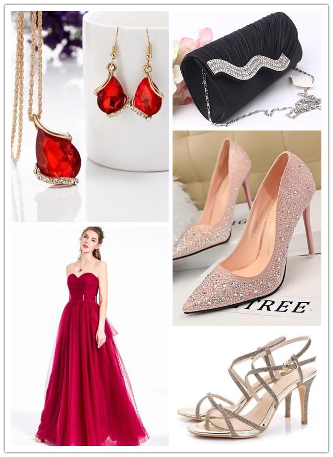 Accessoires pour robe rouge longue princesse