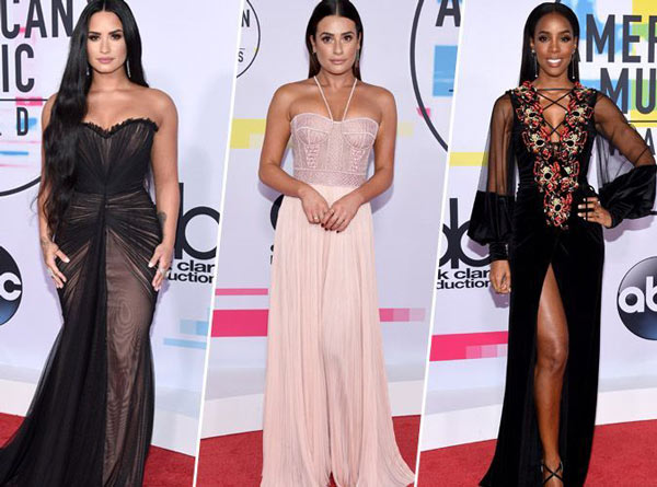 Beaux look de American Music Award's 2017 : Demi Lovato, Lea Michele, Kelly Rowland
