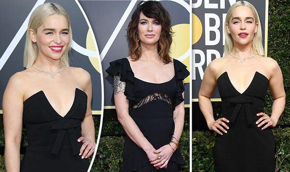 Emilia Clarke et Lena Headey en noir aux Golden Globes 2018