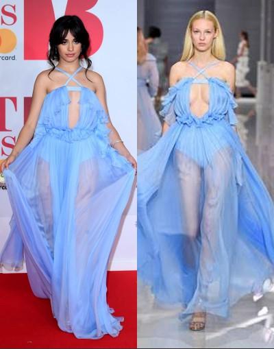 Camila Cabello porte la robe de Ralph & Russo pour Brit Awards 2018