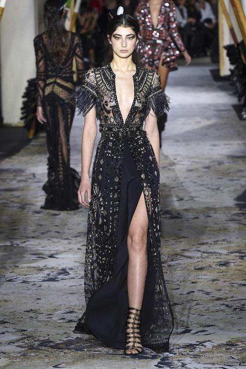 robe de soirée noire Zuhair Murad