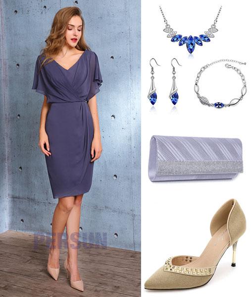 robe de cocktail 2019 indigo clair et accessoires