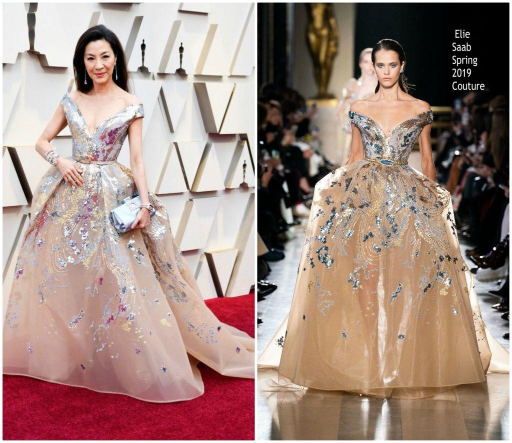 Michelle Yeoh en robe Elie Saab Haute Couture oscars 2019