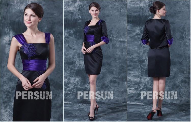 robe de soirée tailleur bicolore