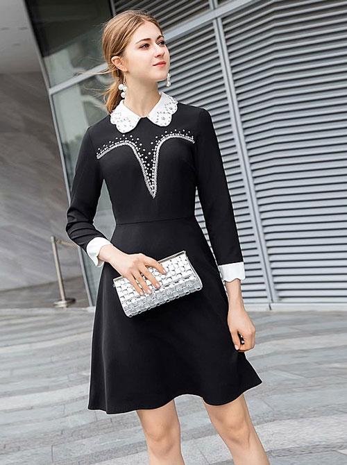 robe noire avec manche pour after work