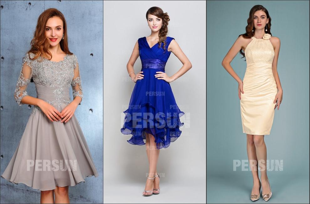 4 robes de cocktail coupe différente populaires de persun