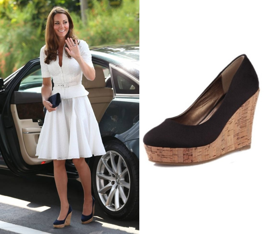 chaussures à talon compensé de Kate Middleton