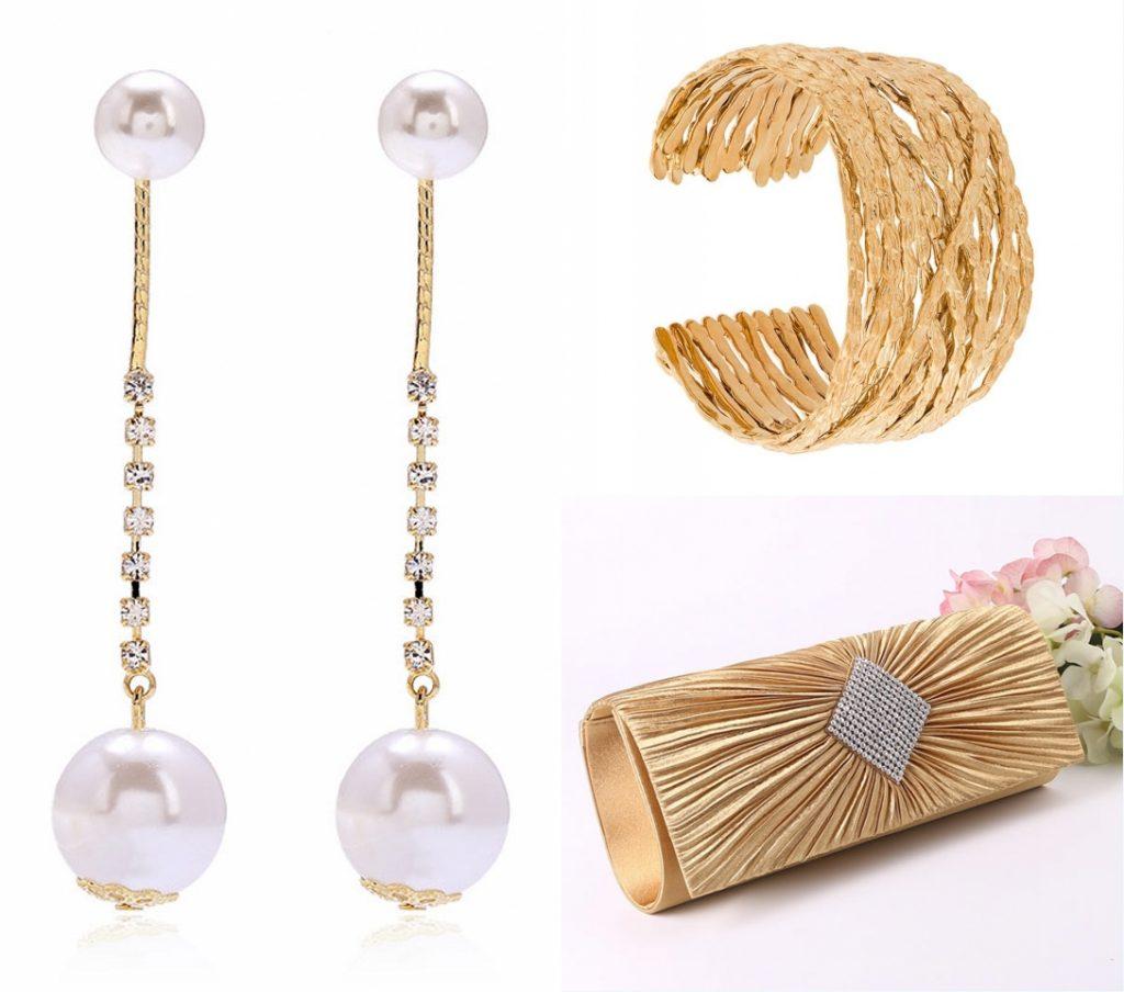 accessoire femme dorée élégantes