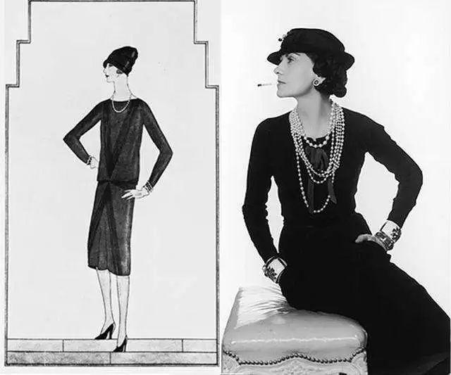 petite robe noire classique Coco chanel