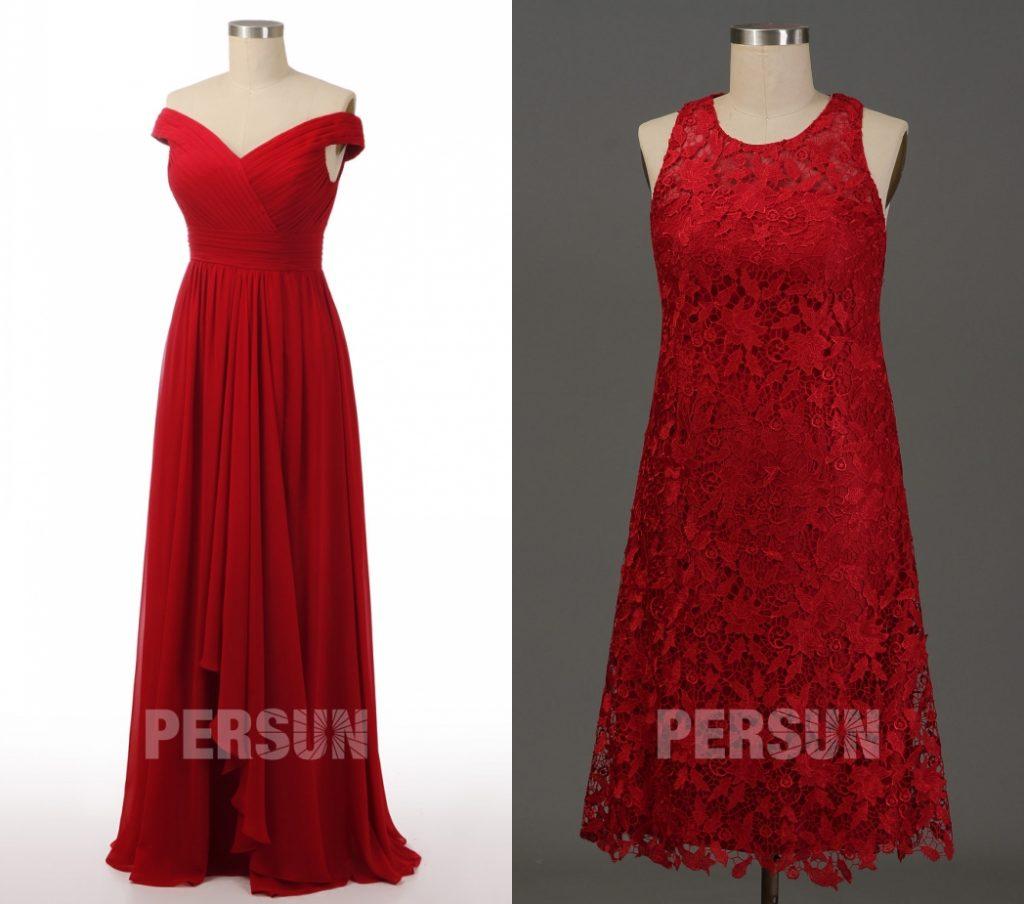 robe de cocktail rouge magnifique persun