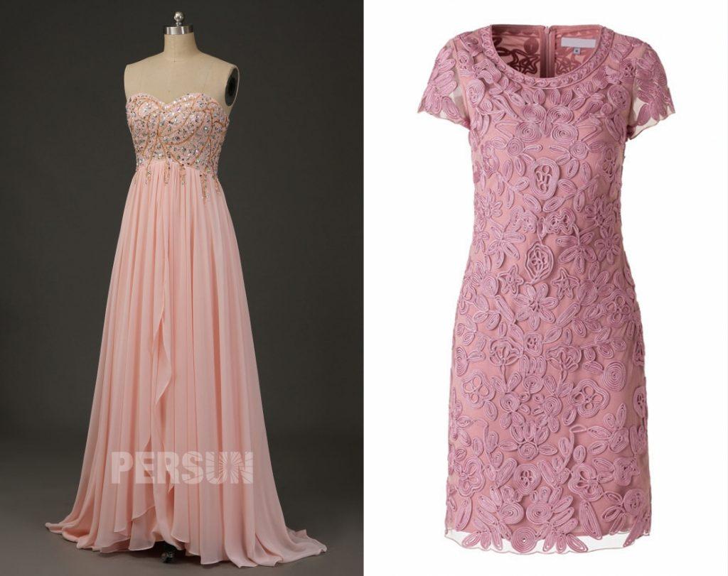 robe chic et magnifique rose