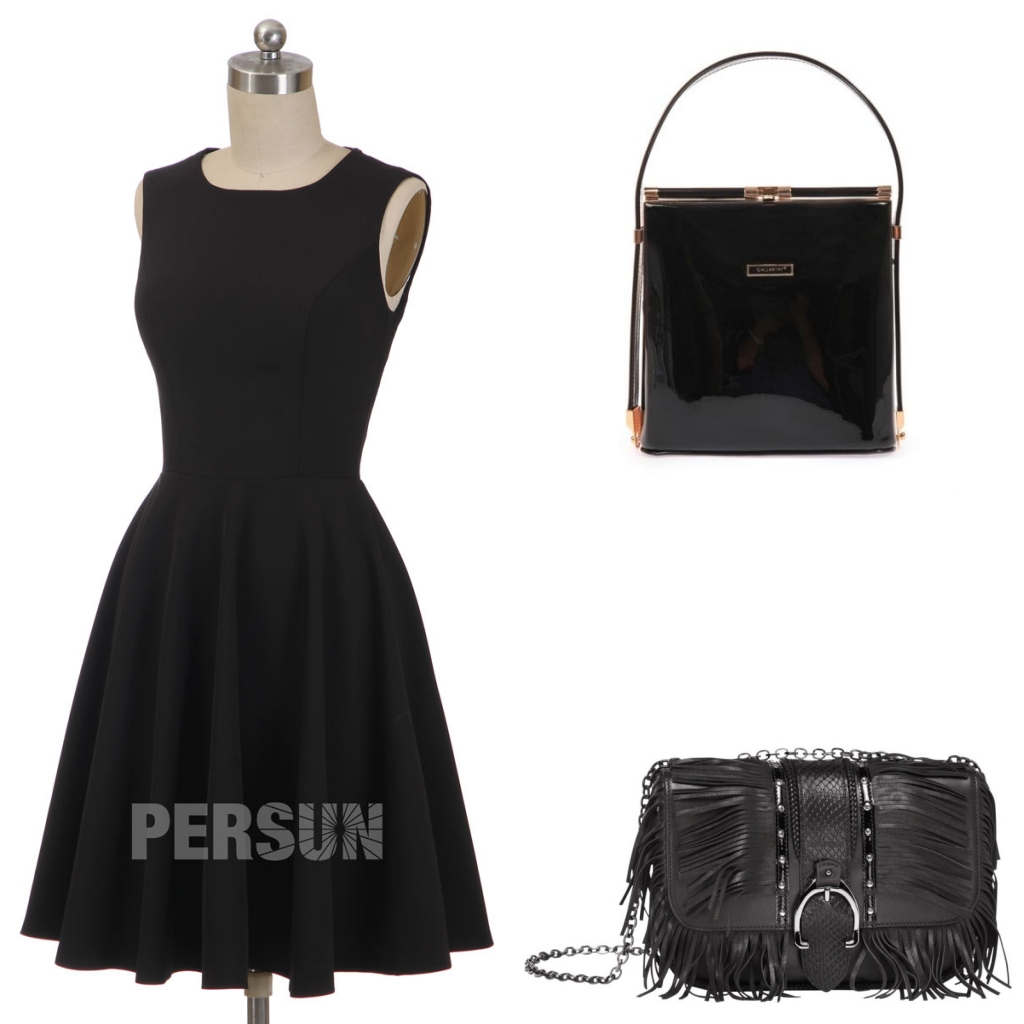 simple robe de cocktail noire classique