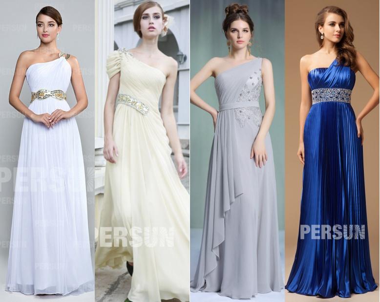 robe longue drapé asymétrique