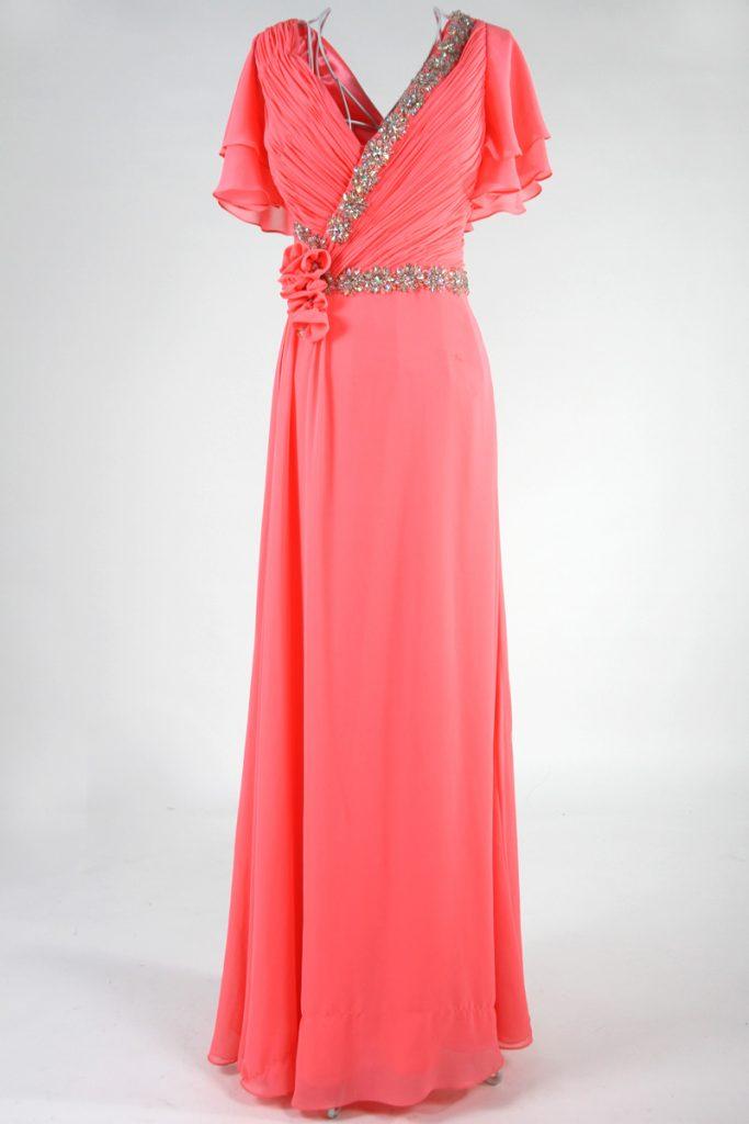 longue robe portefeuille manche ample